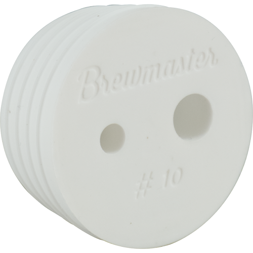 Two Hole #10 Brewmaster Silicone Stopper