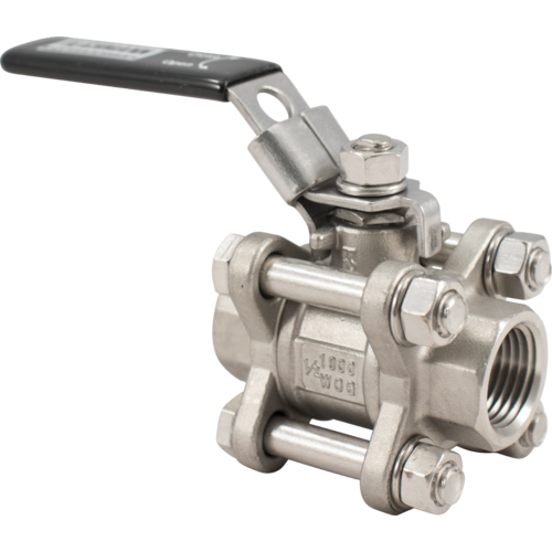 Blichmann 3 Piece Ball Valve - 1/4 in. NPT