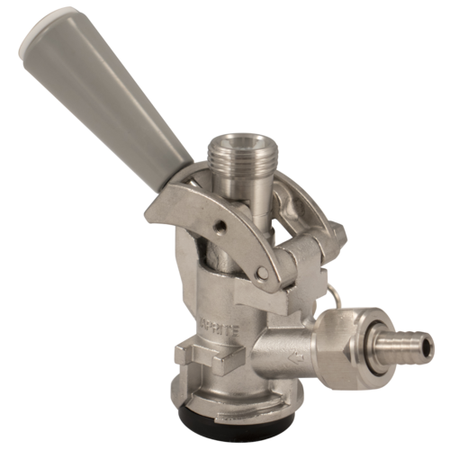 D-Style Sanke Keg Tap, Stainless Steel with PRV