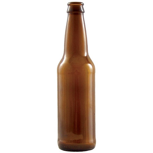 Beer Bottles - 12 oz Amber Longneck - Case of 24 (3605907898448)