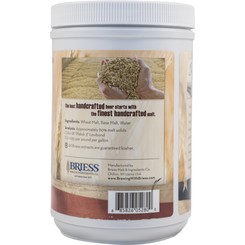 Liquid Malt Extract - Briess LME - Bavarian Wheat - 3.3 lb Canister