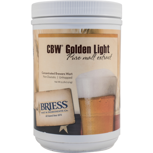 Liquid Malt Extract - Briess LME - Golden Light - 3.3 lb Canister