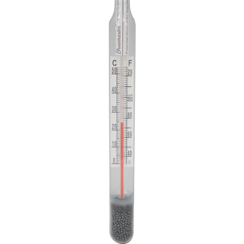 Beer And Wine Hydrometer With Correction Scale