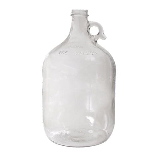 1 Gallon Glass Jug Carboy with Handle for Homebrew Fementing - 128 oz.