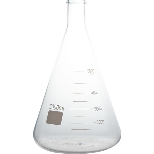 5000 mL Erlenmeyer Flask for Large Yeast Starter