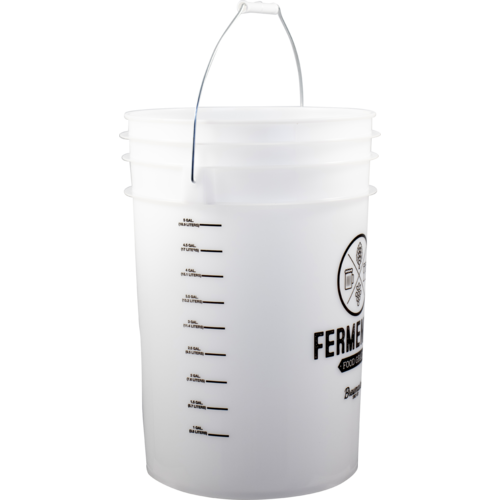 6 Gallon Food Grade Plastic Bucket Homebrew Fermenter with Volume Markers
