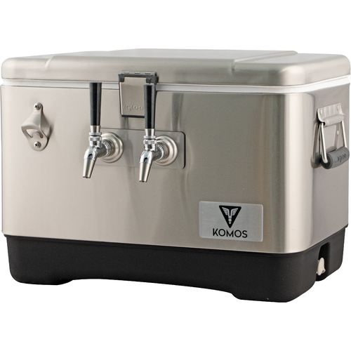 KOMOS™ Stainless Steel Draft Box (2 Tap) (3605907243088)