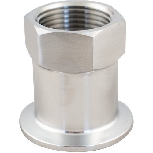 Stainless Tri-Clamp - 1 in. FPT x 1.5 in. T.C.