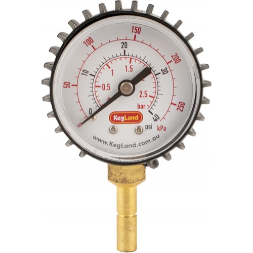 Push-In Pressure Gauge (0-40 psi) - KL07696