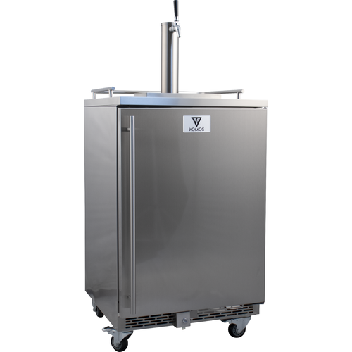 "Stainless Steel 24"" Wide Outdoor Built-In Kegerator with Stainless Intertap Faucet & Tower"