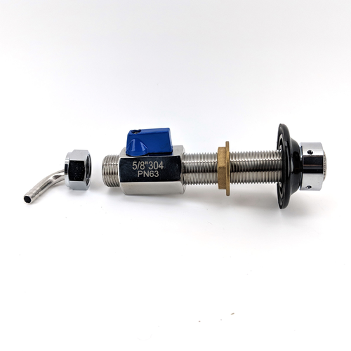 5/8 in. Stainless Steel Ball Valve for Beer/Gas Line Shut off Valve for Keg Couplers - KL00406