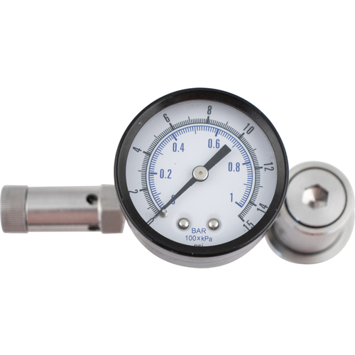 Ball Lock Spunding Valve with Pressure Gauge