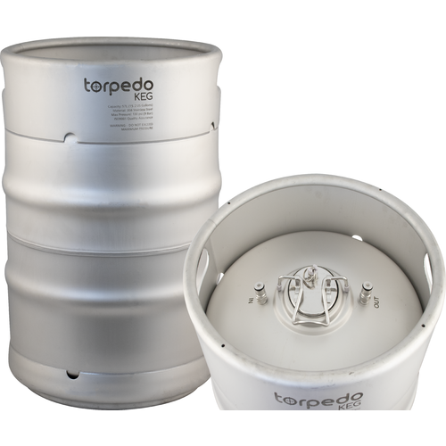 TORPEDO KEG 15 GALLON Stainless Steel Stackable Ball Lock Corny Keg