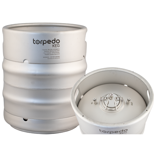 TORPEDO KEG 10 GALLON Stainless Steel Stackable Ball Lock Corny Keg