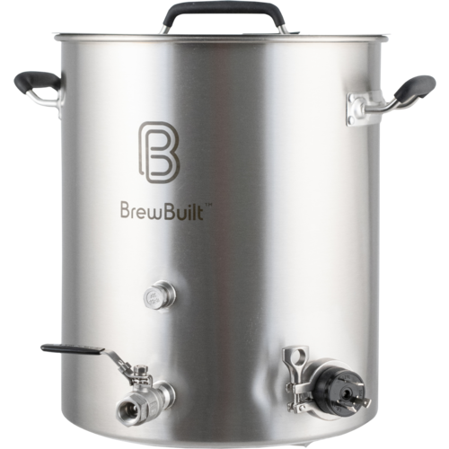 Electric Brewing Kettle with Ball Valve and 1.5 inch Tri-Clamp Connection