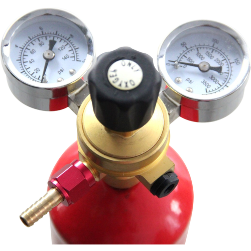 Dual Gauge Oxygen Regulator for Disposable Oxygen Cylinders - KL02165