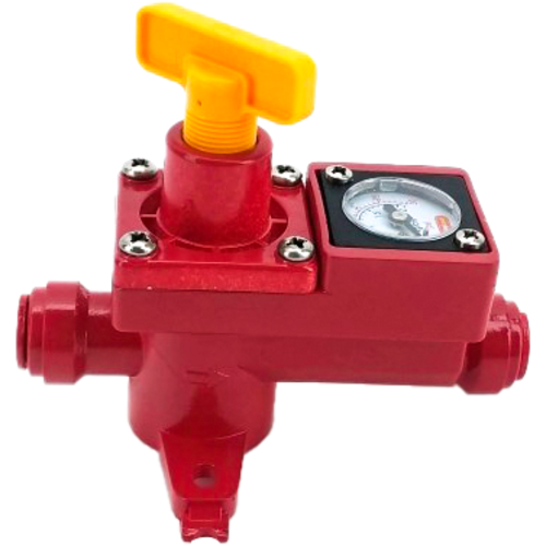 Version 2 - Duotight BlowTie Diaphragm Spunding Valve w/ Integrated Pressure Gauge (0-15 PSI) Complete Kit