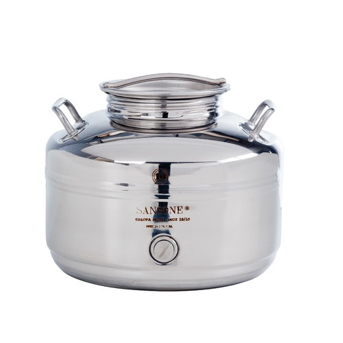 10L / 2.6 Gallon Stainless Fusti Tank for Wine, Water, Honey, Olive Oil, Vinegar & more