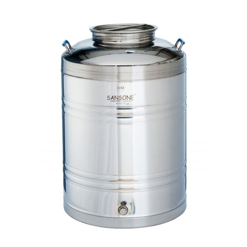 100L / 26.4 Gallon Stainless Fusti Tank for Wine, Water, Honey, Olive Oil, Vinegar & more