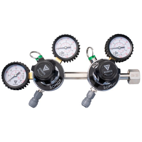 Dual Body CO2 Regulator for Different Pressures on 2 Kegs from 1 CO2 Tank