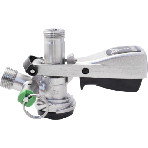 D-Style Sanke Keg Coupler for Standard American Commercial Kegs with Pressure Relief Valve