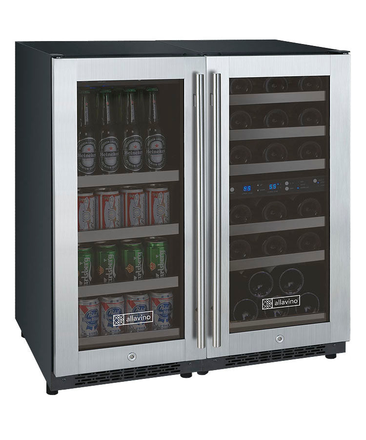FlexCount Series Side-by-Side Dual-Zone Wine & Beverage Center (3595468046416)