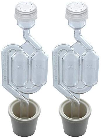 PACK OF 2 - Twin Bubble Airlock and Carboy Bung