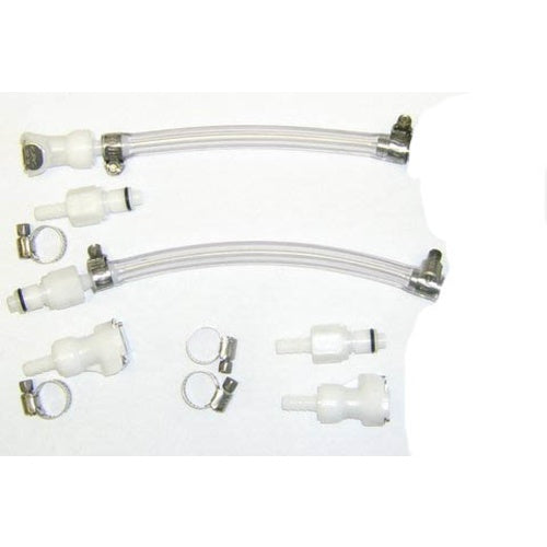 Keg Quick Change Set - Inline QDs, Tubing & Clamps