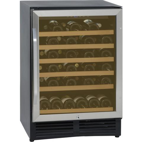 50-Bottle Single Zone Wine Cooler - Black/Stainless Steel (3593992142928)