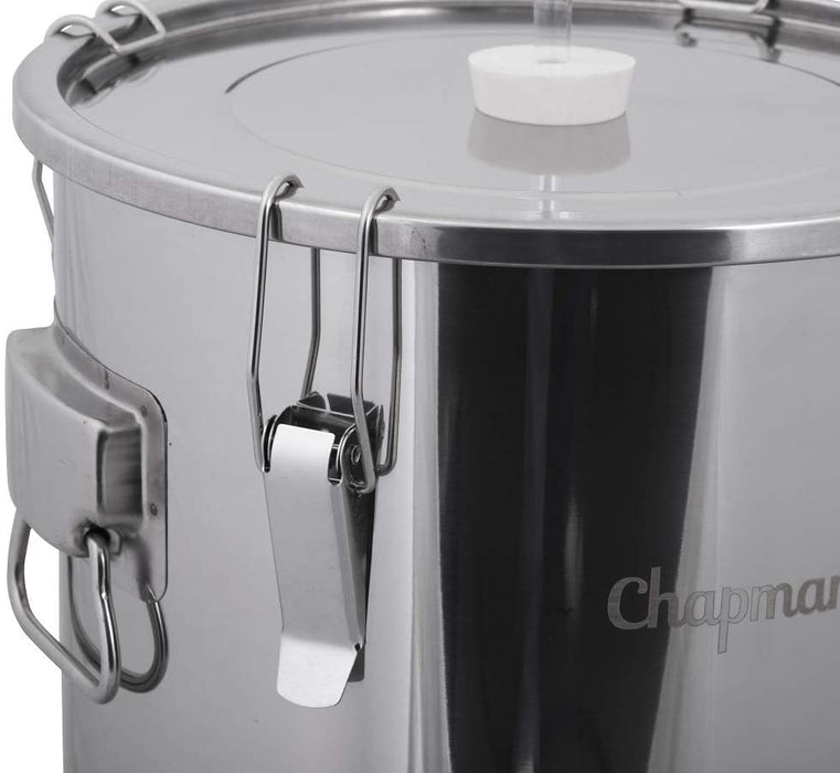 7 Gallon Stainless Steel Univessel Dual Purpose Fermenter and Brewing Kettle with Airlock and Stopper - ST07NP