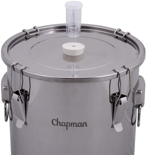 14 Gallon Stainless Steel Univessel Dual Purpose Fermenter and Brewing Kettle with Airlock and Stopper - ST14NP