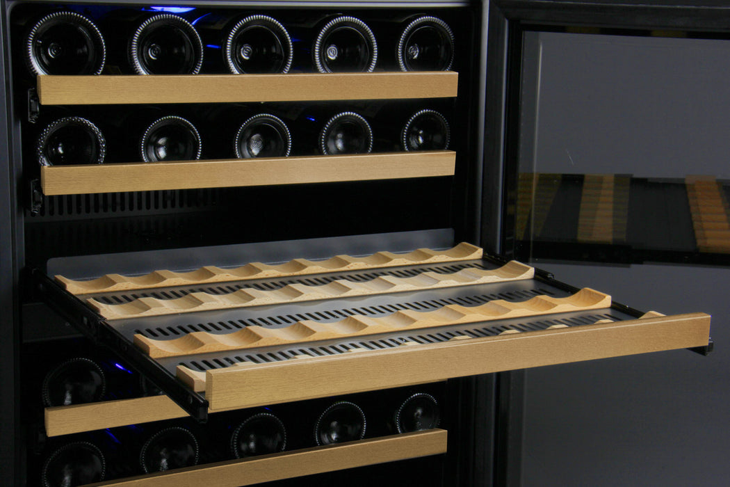 FlexCount Series 56 Bottle Dual-Zone Wine Cellar with Black Door (3594968858704)
