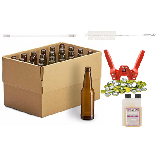 5 Gallon Deluxe Homebrew Bottling Kit with Bottles, Bottle Filler, Capper, Caps, Bottle Brush & Sanitizer