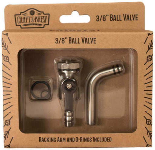 "Craft A Brew Ball Valve, 3/8"", Metal Grey"