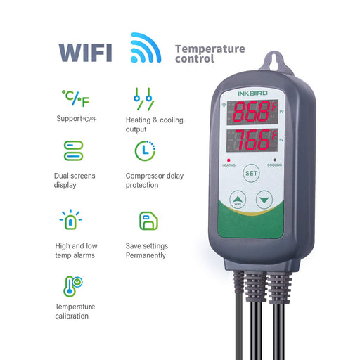 WiFi ITC-308 Digital Temperature Controller Thermostat Remote Monitoring Controlling Home Brewing Fermentation