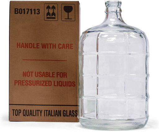 3 Gallon Italian Glass Carboy for Homebrew Beer & Wine Fermenting