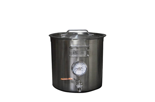 Stainless Steel Brew Kettle with Ball Valve, Thermometer & Dip Tube