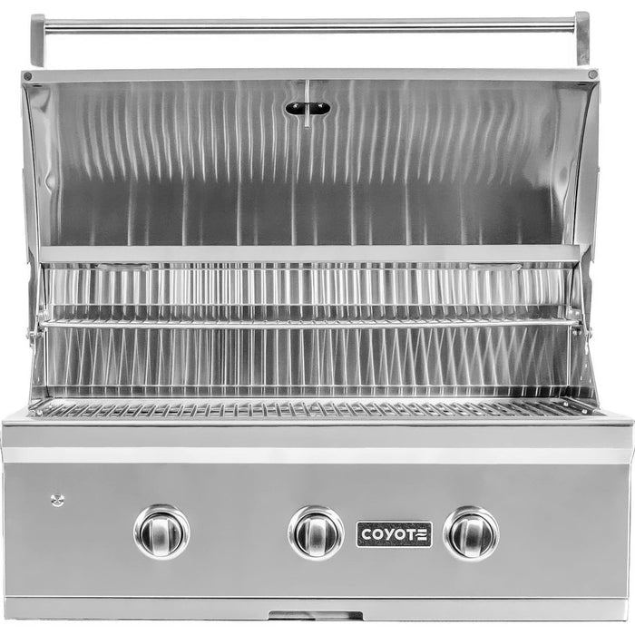 "Coyote 34"" Grill with Infinity Burners; Natural Gas"