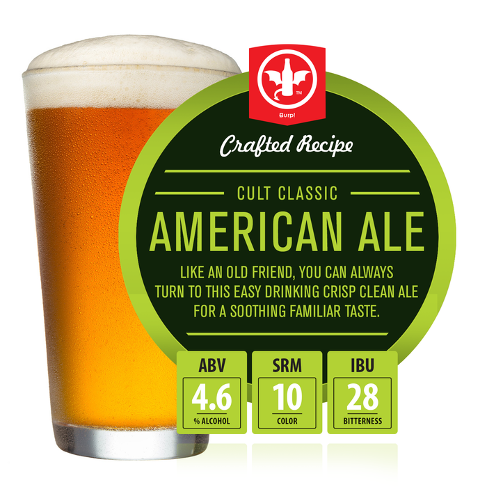 2 Gallon Cult Classic American Ale Homebrew Recipe Ingredient Kit