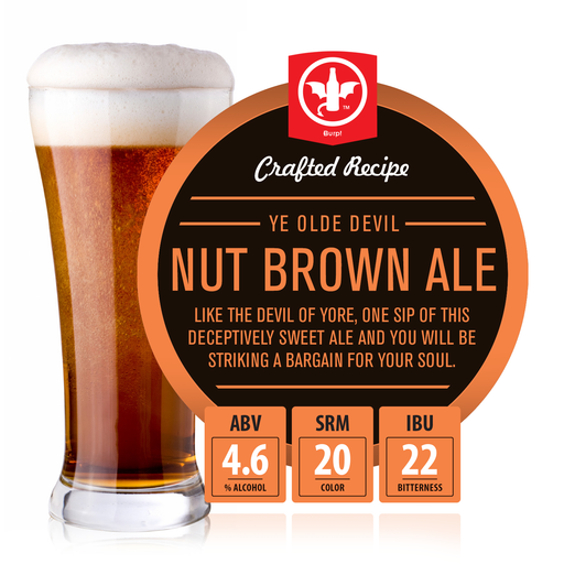 2 Gallon Nut Brown Ale Homebrew Recipe Ingredient Kit