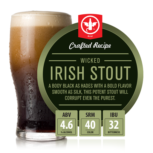 2 Gallon Wicked Irish Stout Homebrew Recipe Ingredient Kit