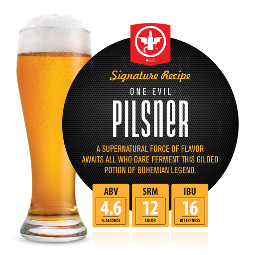 2 Gallon Evil Pilsner Homebrew Recipe Ingredient Kit