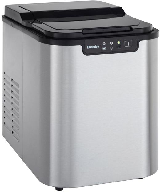 Danby 2 LB Portable Ice Maker, Stainless Steel (3594013704272)