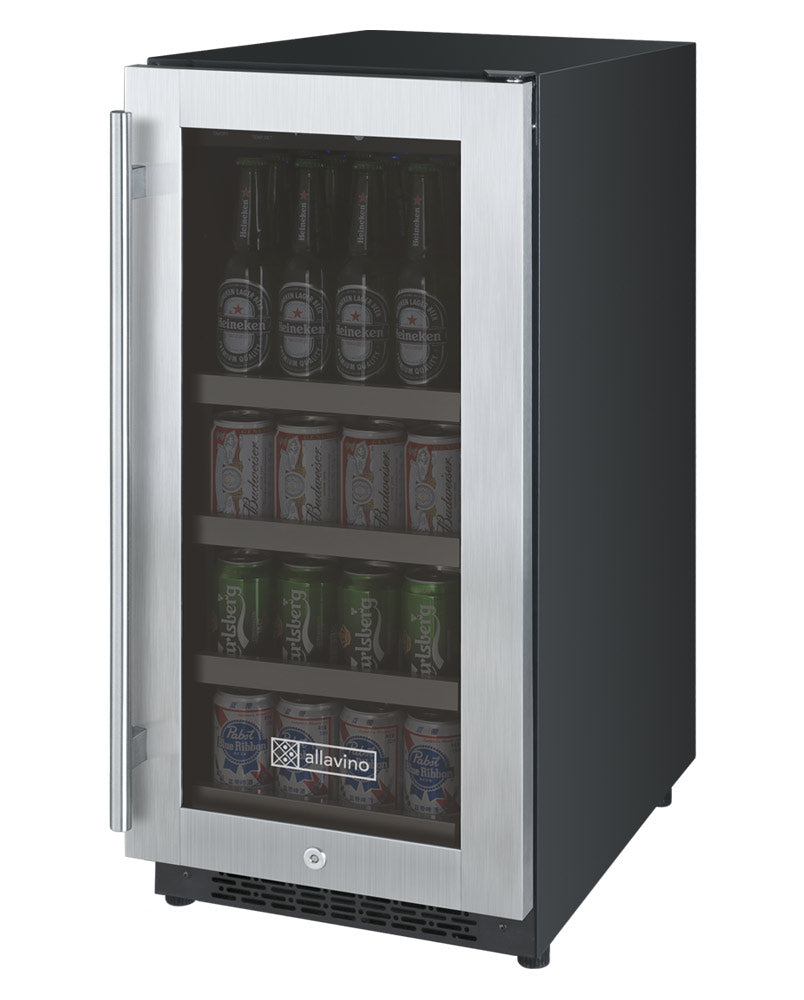 "FlexCount Series 15"" Wide Beverage Center - Stainless Steel Door (3595506974800)"