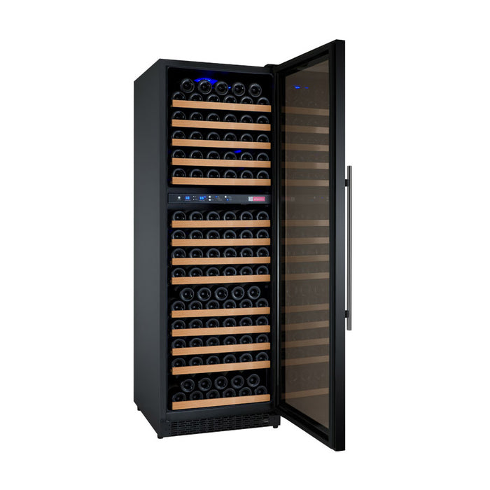 FlexCount Series 172 Bottle Dual Zone Wine Refrigerator with Black Door & Right Hinge (3594860920912)