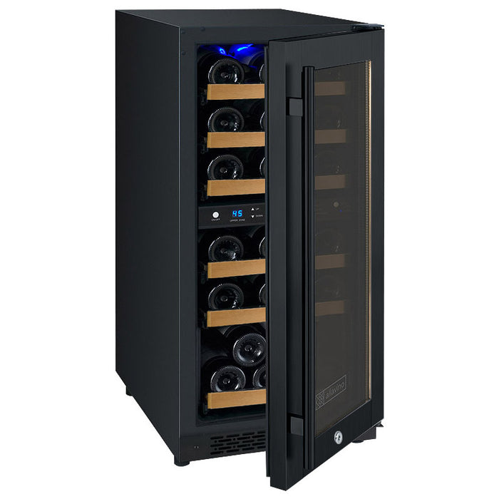 FlexCount Series 30 Bottle Dual-Zone Wine Refrigerator - Black (3594885365840)