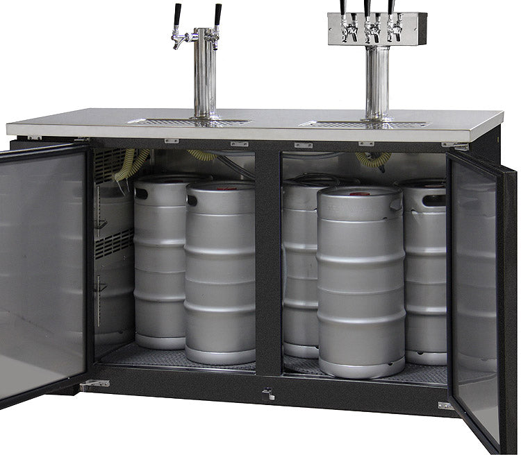 Three Keg Commercial Grade Kegerator- Black (3607820566608)