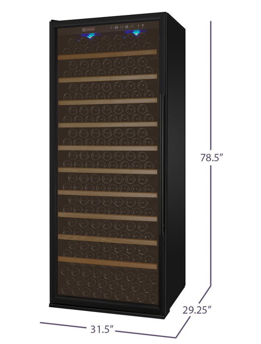 Vite Series 305 Bottle Single-Zone Wine Refrigerator - Black Door with Left Hinge