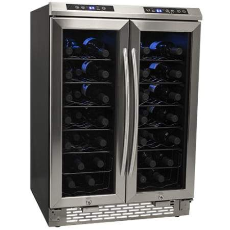 38-Bottle Dual Zone Wine Cooler - Stainless Steel (3593992241232)