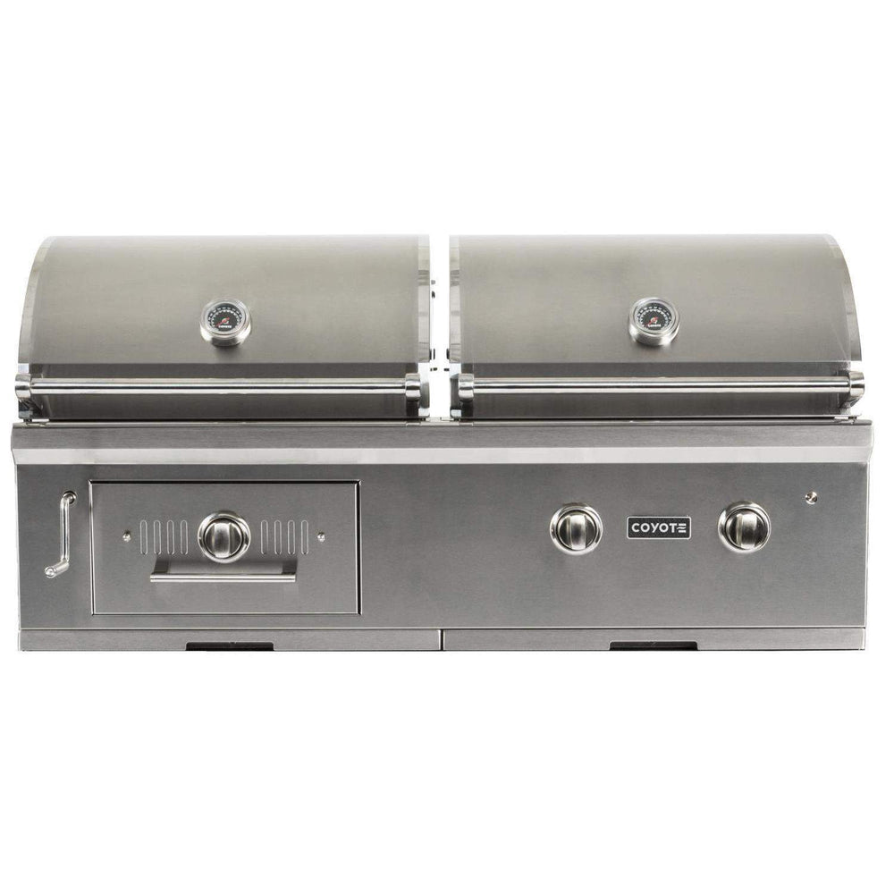 "Coyote 50"" Hybrid Gas & Charcoal Grill; LP Gas (3616251510864)"
